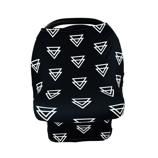 Black Geo - Nursing/Carseat Cover