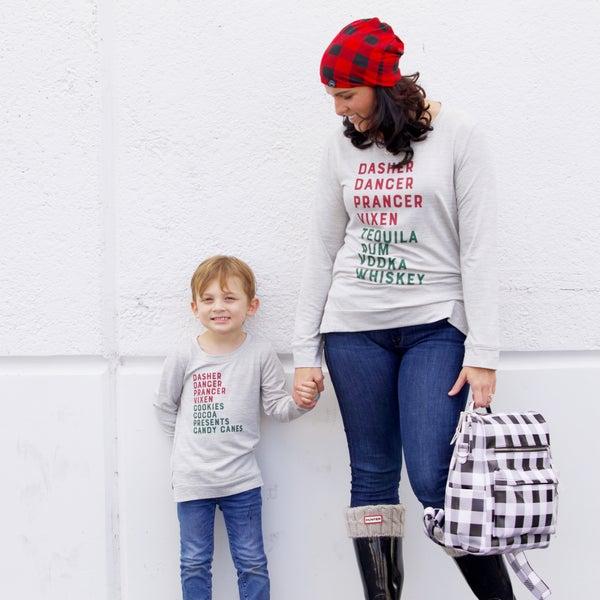 Festively Lit - Long-Sleeve Sweater Top - Reg/Plus