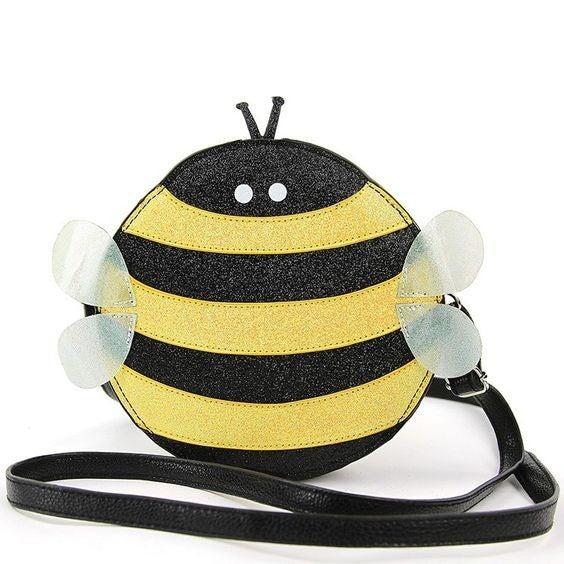 Glittery Bee Crossbody Bag