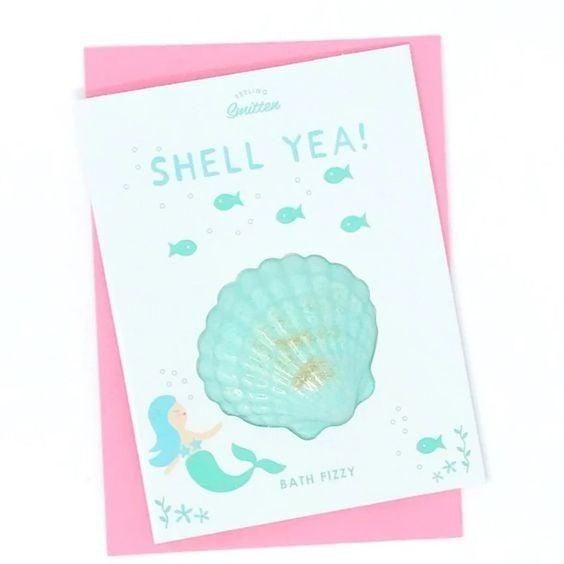 Shell Yeah! - Fizzy Bath Bomb Greeting Card