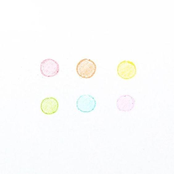 Rainbow Scoops Vanilla Scented - Stacking Erasable Crayon