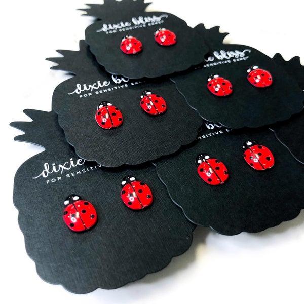 Ladybug - Stud Earrings