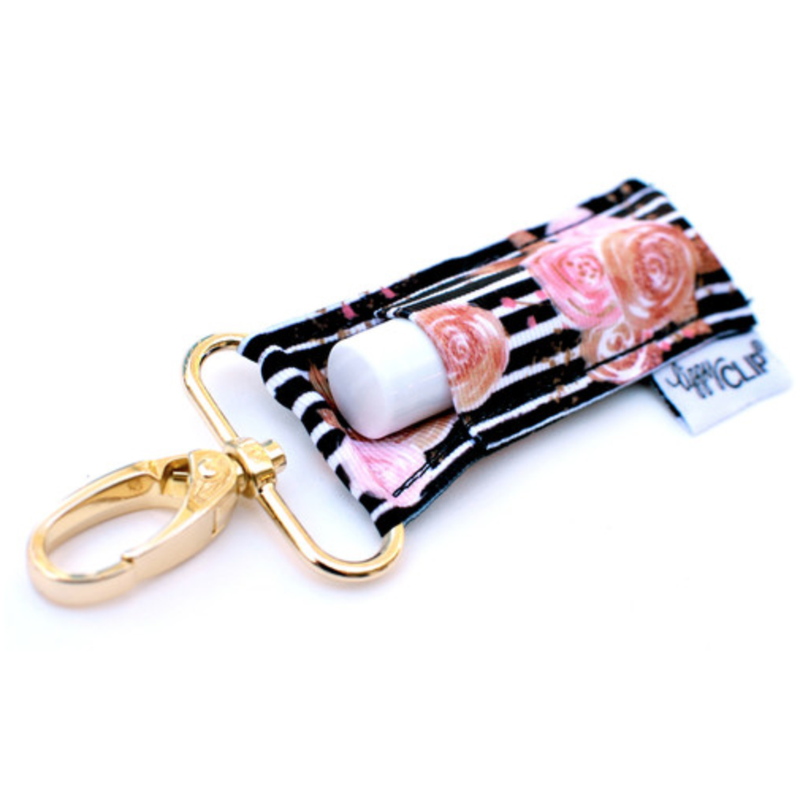 LippyClip Lip Balm Holder - Striped Floral