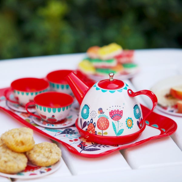 Vintage Look Tin Tea Party Set