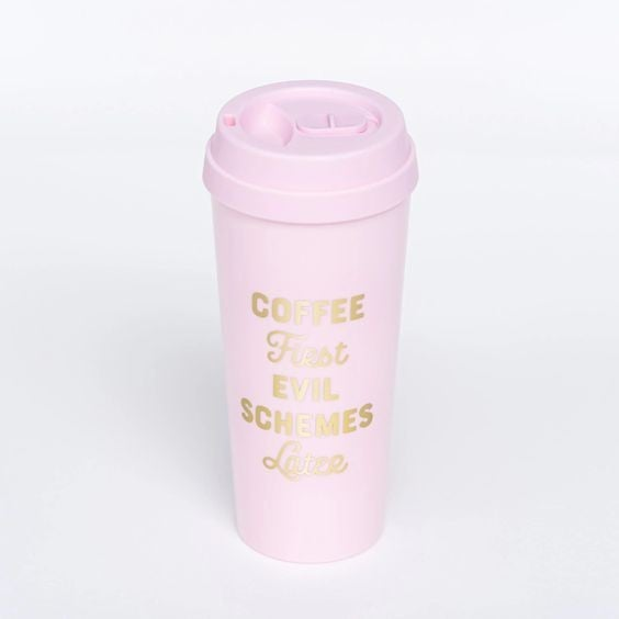 Coffee First, Evil Schemes Later - 16 oz - Mugsby