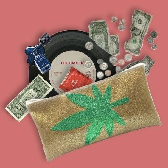 Mary Jane Vinyl Zipper Clutch