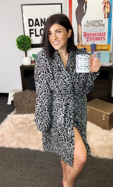 Starlet Robe - Grey Leopard - SUPER cozy! - Reg/Plus