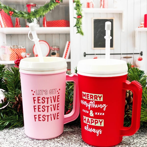 Merry & Bright - 22 oz Thermo Mug - JLB