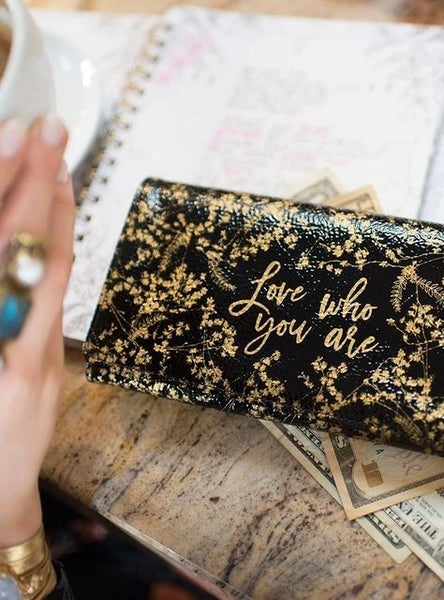 Love Who You Are - Gilded Tri-Fold Wallet