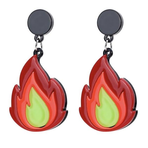 Flame Emoji - Earrings