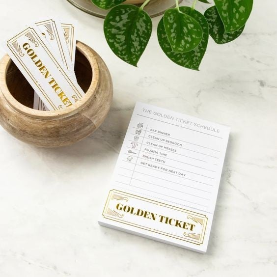 Golden Ticket Pads - Kid Incentivizer