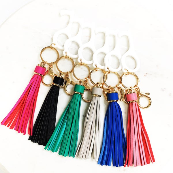 Clean Key - Touch Less Keychains with Tassel