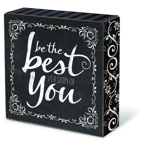 Be The Best Version - Encouragement Block
