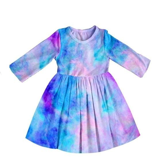 KIDS - Cotton-Candy Tie-Dye - The Girl Next Door Dress