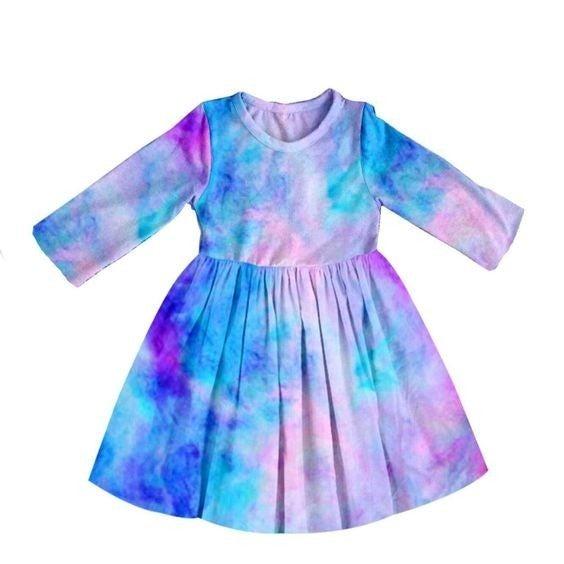 KIDS - Cotton-Candy Tie-Dye - The Girl Next Door Dress