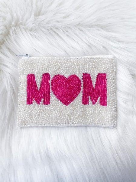 Mom - Beaded Coin/Card Purse