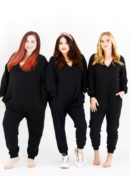 Leave A Message - Black Lounge Jumpsuit