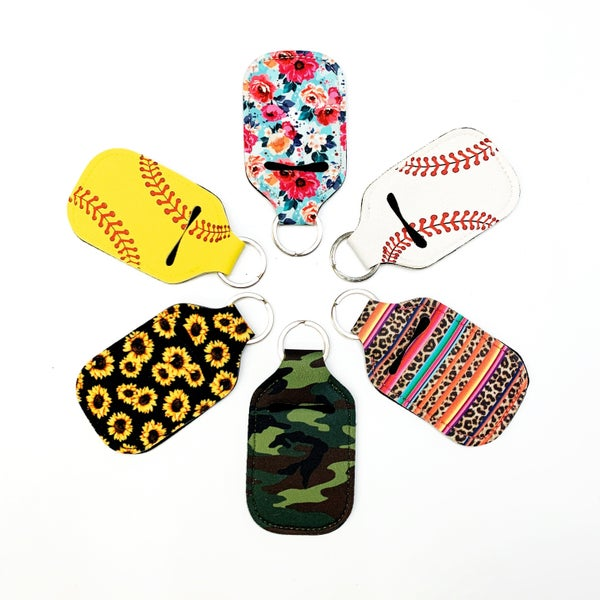 Neoprene Sanitizer Holder Keychain
