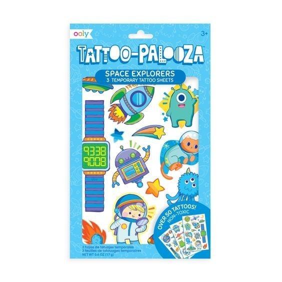 Space Explorer - Tattoo-Palooza Temporary Tattoos - 3 Sheets