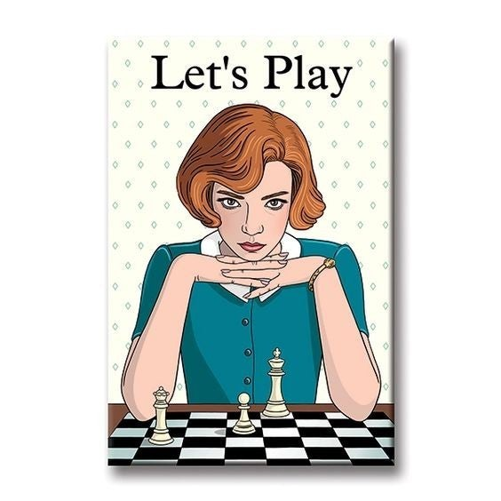 Let's Play - Queen's Gambit - Magnet