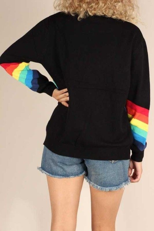 Rainbow Brite - Black Sweater Top