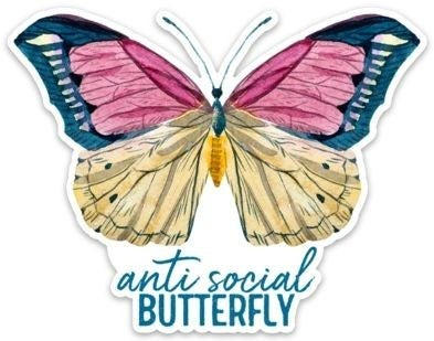 Anti-Social Butterfly - Sticker Decal