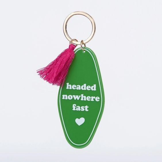 Headed Nowhere Fast - Retro Motel Keychain