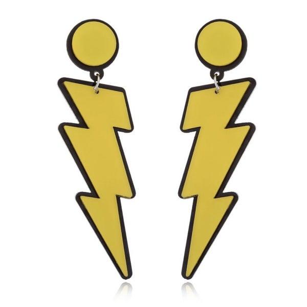 Comic Book Lightning - Earrings