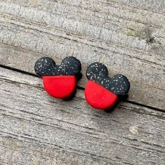 Magical Mouse - Clay Stud Earrings