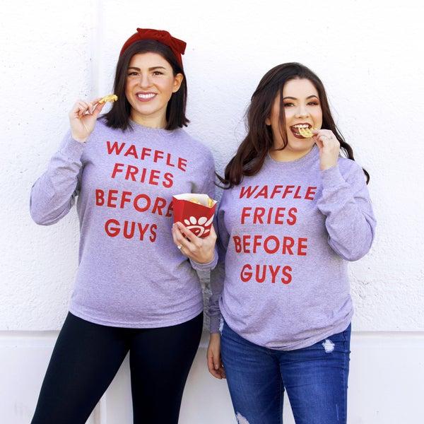 Waffle Fries Before Guys - Long-Sleeve Unisex Tee