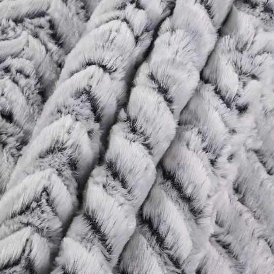 Sterling Snuggles - Minky Throw Blanket