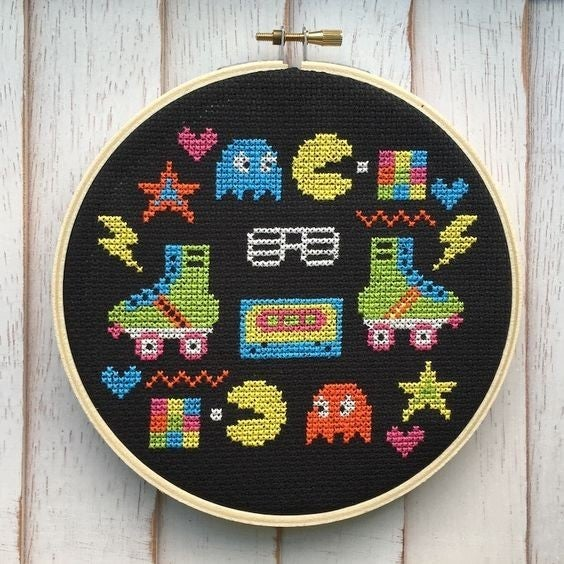 Babies of the 80s DIY Cross Stitch Kit