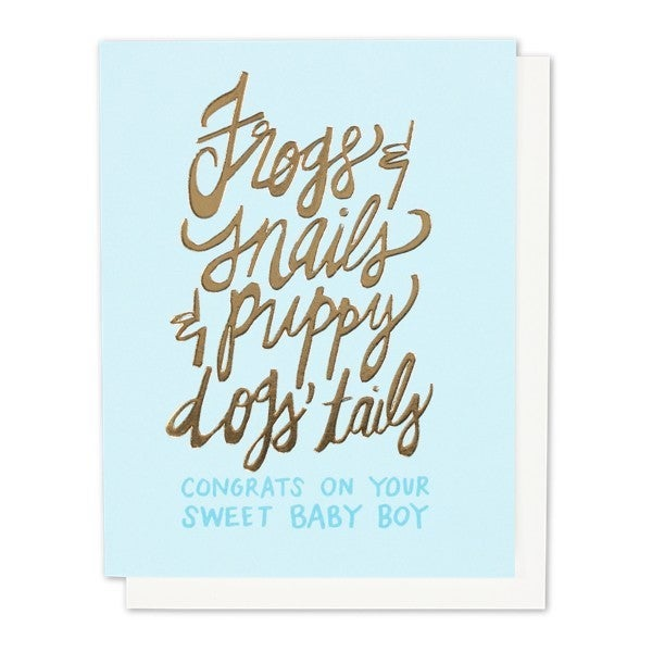 Frogs & Snails - Baby Boy Card