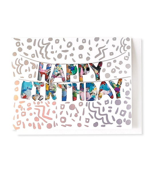Happy Birthday Balloons - Confetti Card