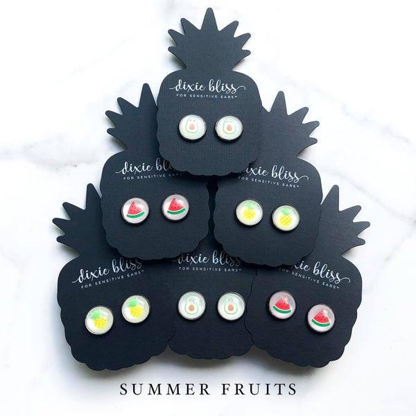 Summer Fruits - Stud Earrings