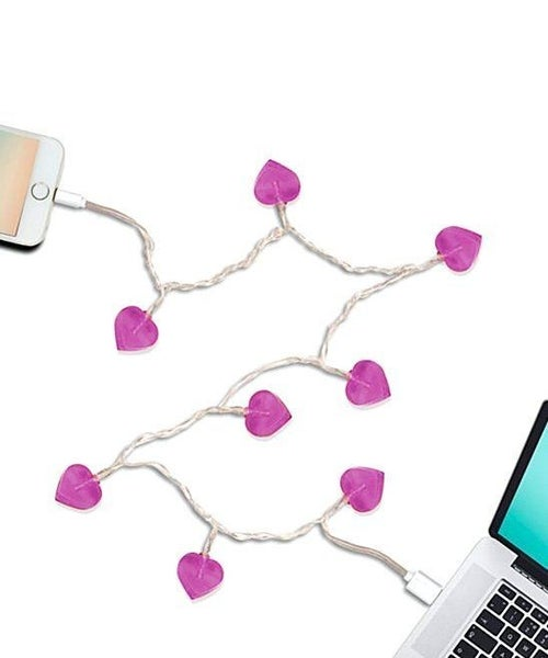 Hearts Charging Cable - Lights up! - Lightning/MicroUSB/TypeC