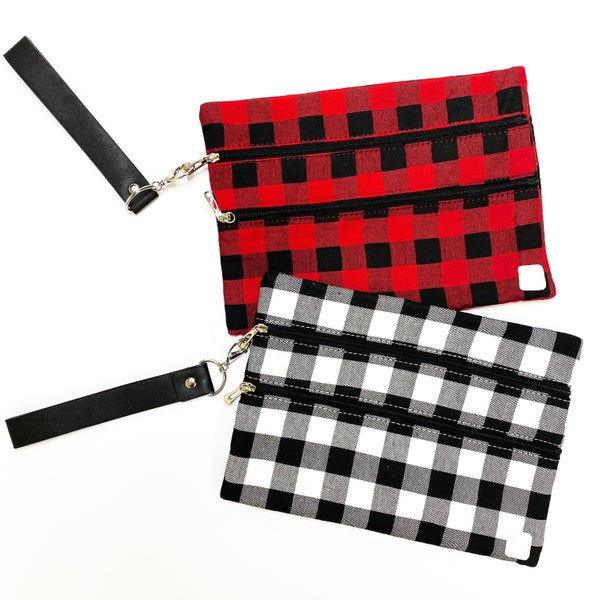 Buffalo Plaid Chic - Katie Clutch