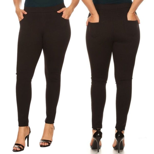 Perfect Black Ponte Pants - Reg/Plus