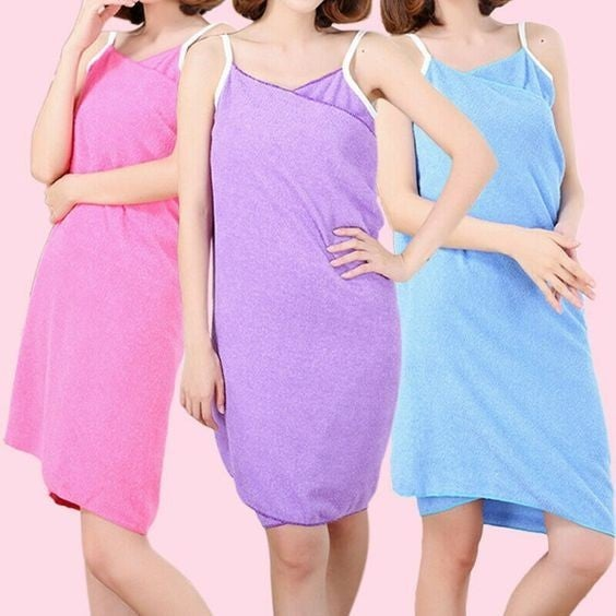 DOORBUSTER: Microfiber Towel Wrap Dress - Post-Shower or Swim-Cover-Up