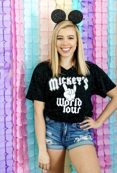 Mickey's World Tour - V-Neck Tee - Reg/Plus