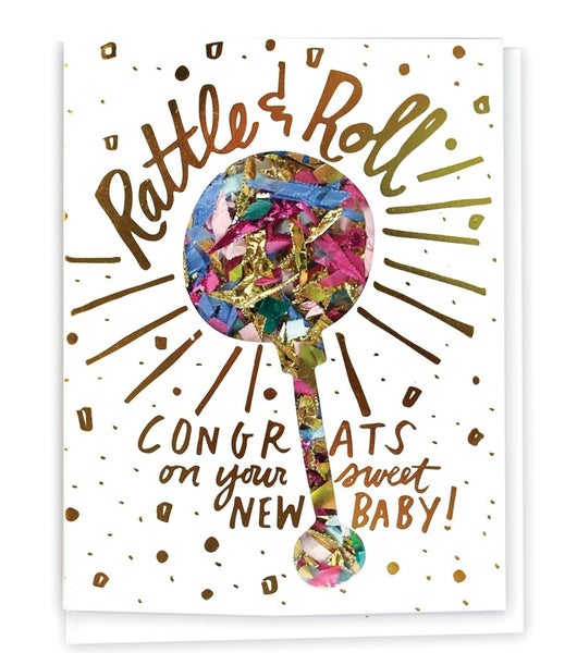 Rattle & Roll - Confetti Card