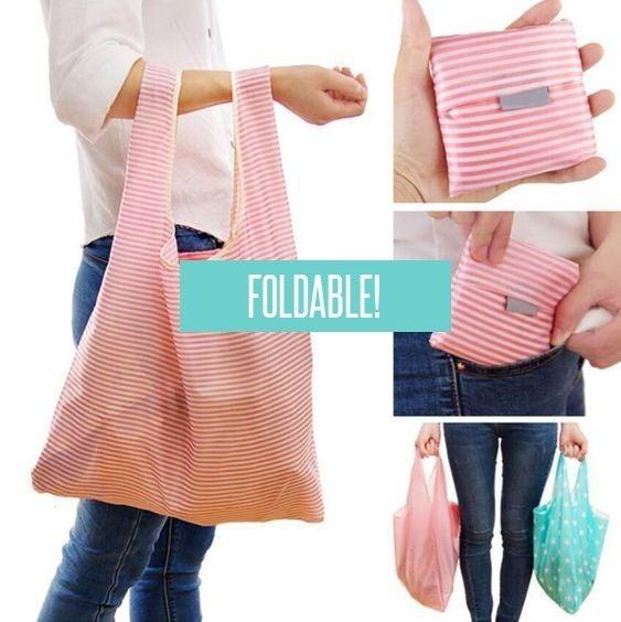 Katie's FAVE Foldable Reusable Bags - Set of 6