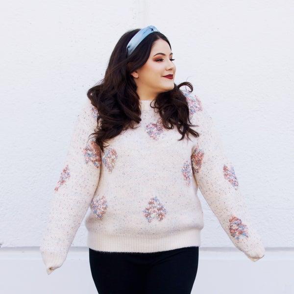 Heartbreaker - Funfetti Knit Sweater - Reg/Plus