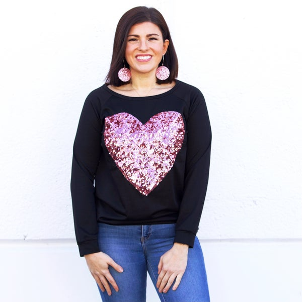 Heart of Rose Sweater Top