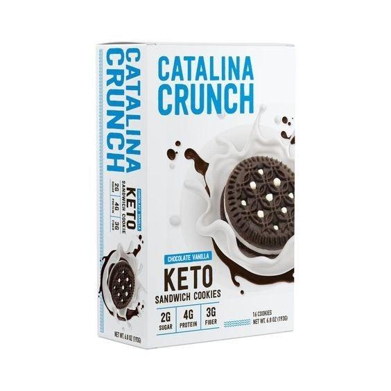Keto Chocolate Sandwich Cookies - Catalina Crunch