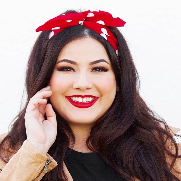 Red Polka Dots Headband - Byrd Headbands