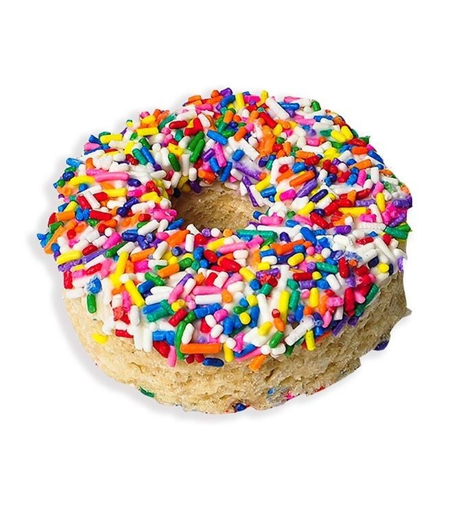 Rainbow Sprinkle Rice Krispie Treat Donut