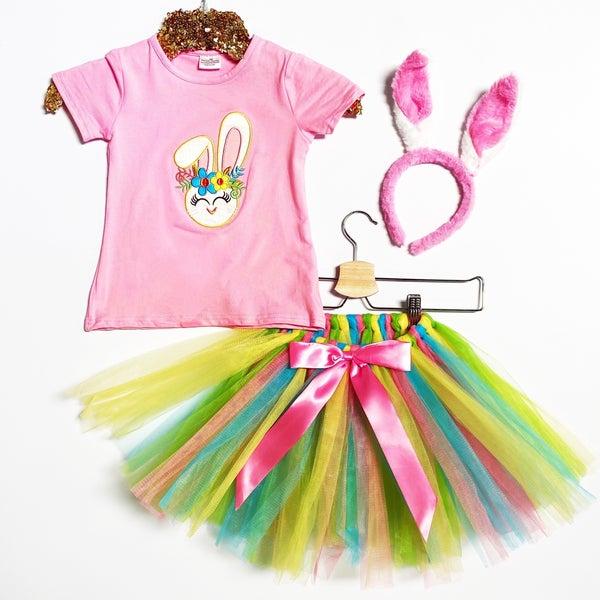 KIDS - Bunny Tutu Outfit with Bunny Ears Headband