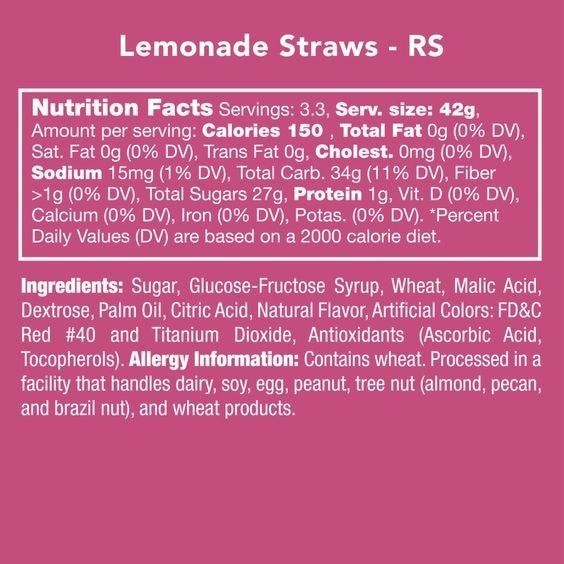 Lemonade Straws - Candy Club