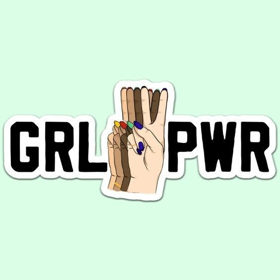 GRL PWR - Diversity - Sticker Decal